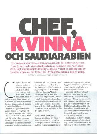 Catarina alexon intervju chefstidningen okt 2013 cv