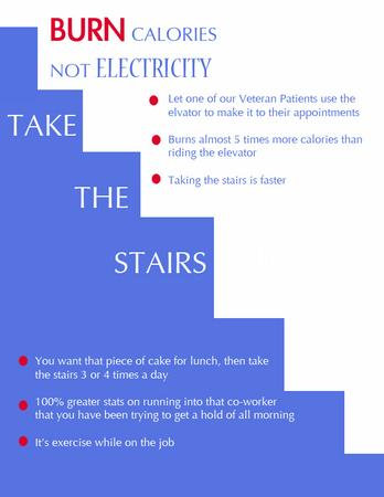 Take the stairs flyer cv