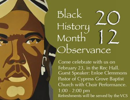 Black history observance cv