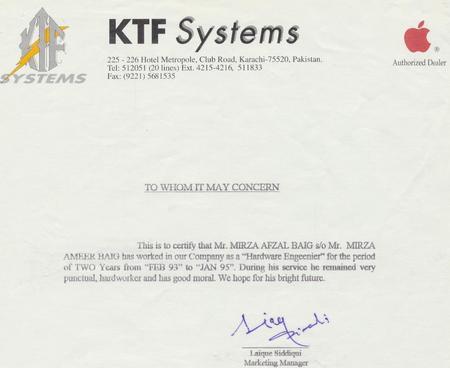 Ktf1 cv