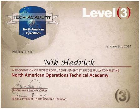 L3 ops academy cv