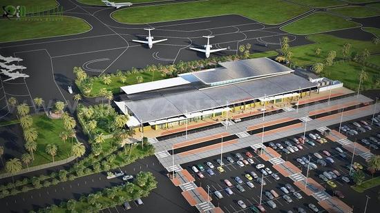3d airport exterior rendering design uae cv