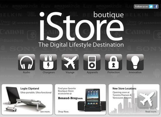 Boutique istore landing page cv