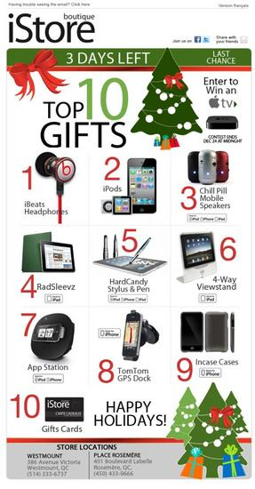 Boutique istore holiday email 3 cv