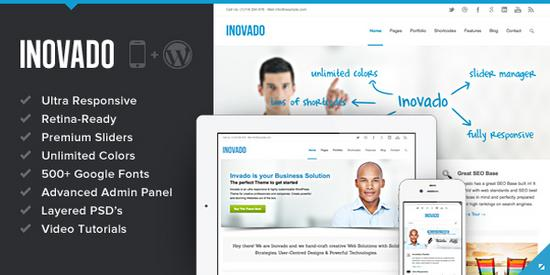 Inovado retina responsive themeforest wordpress theme cv