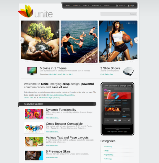 Wordpress theme by themeforest cv