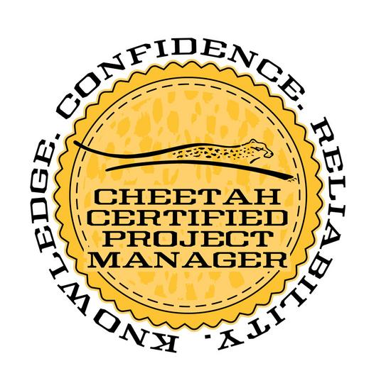 Cheetah badge logogold cv