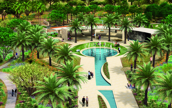 Mushrif central park evening garden cv