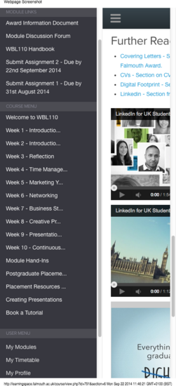 Course  employability and the workplace wbl110  untitled section  week 5   marketing yourself  4  cv
