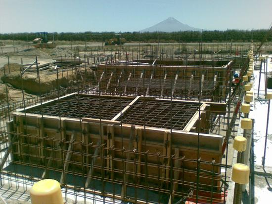 Kupe ceb transformer foundation with mt egmont in the background cv