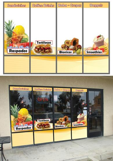 Cococup cafe window graphics sample  1 cv