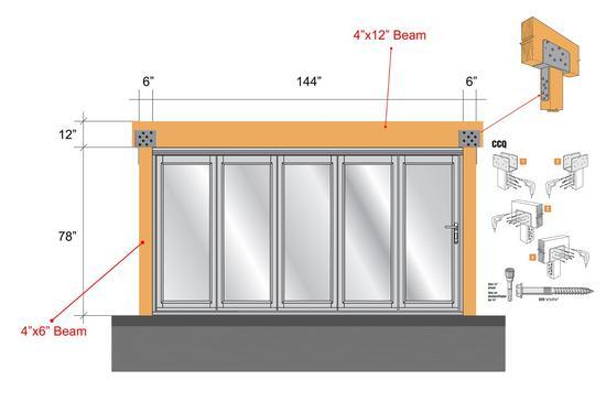 12 ft door cv