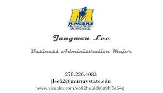 Business card jangwon lee222 cv