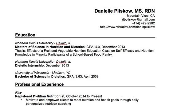 Clinical Dietitian Resume. 3. Clinical Attachment Cv Work