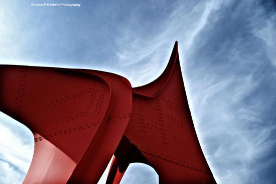 Red sculpture 3 signed cv