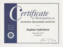 Muni treasurer s institute certificate cv