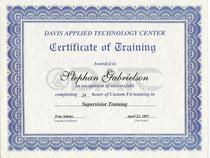 Datc supervisor training certificate cv