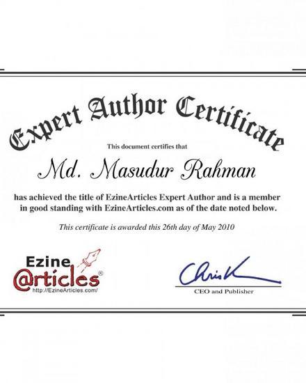 Expert author certificate cv