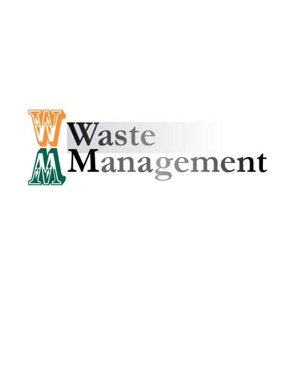 Waste management type logo cv