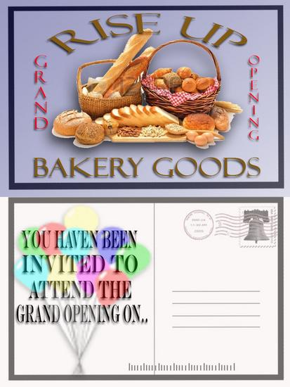 Bakie shop grand opening postcard cv