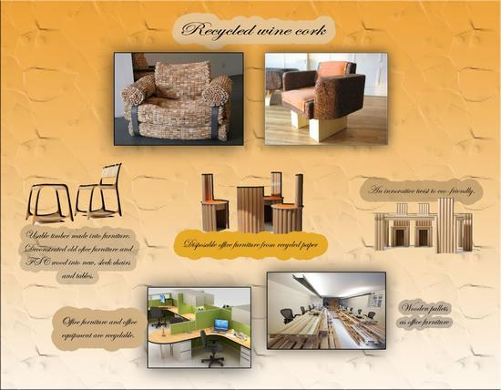 Recycled and used furniture  1  cv