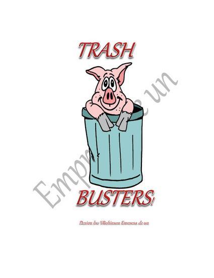 Logo type design   trash busters cv