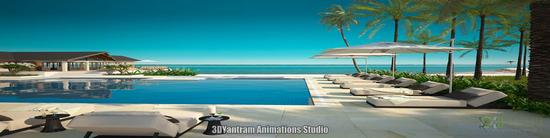 Architectural exterior rendering cv