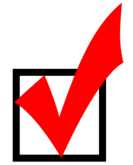 Red checkmark thumb