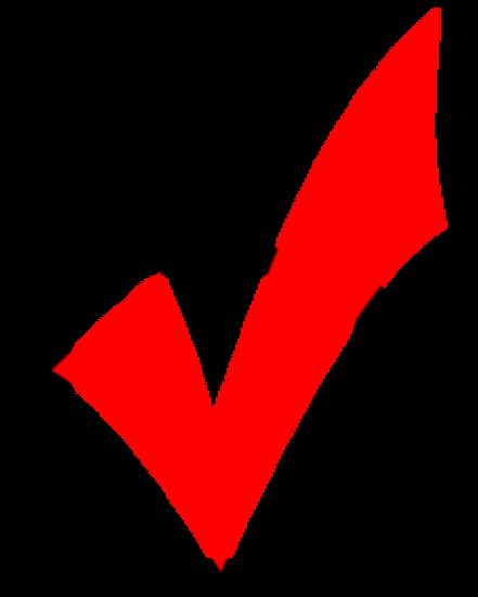 Red checkmark thumb