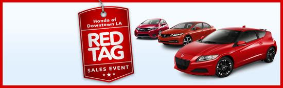 Red tag sales event cv