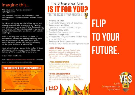 Youth entrepreneurship symposium 2014 brochure revised cv
