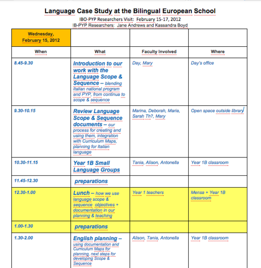 Ib pyp language case study cv