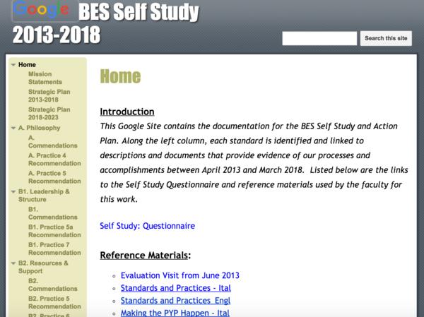 Bes self study 2018 cv