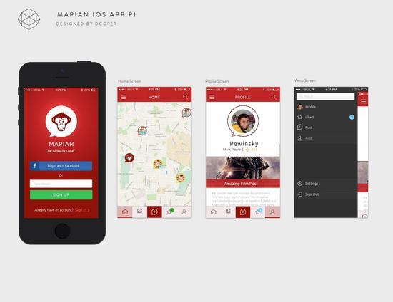 Dc mapian ios app p1 all screens v0.1 cv
