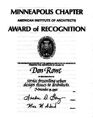 Rowe award0001 cv
