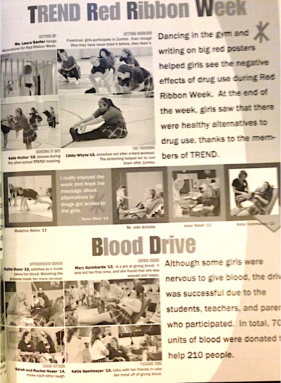 Trend and blood drive cv
