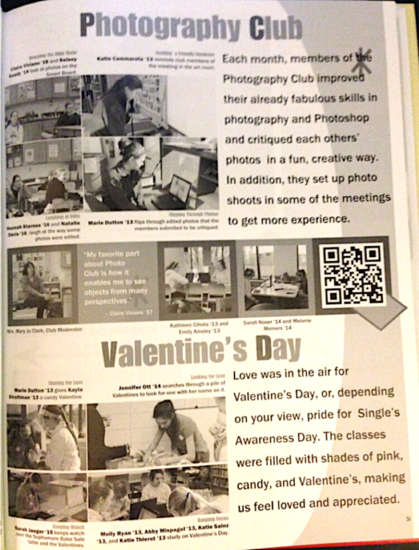 Photo club and valentines cv