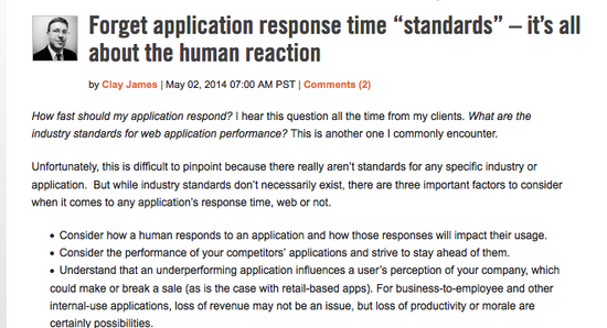 Forget app response times cv