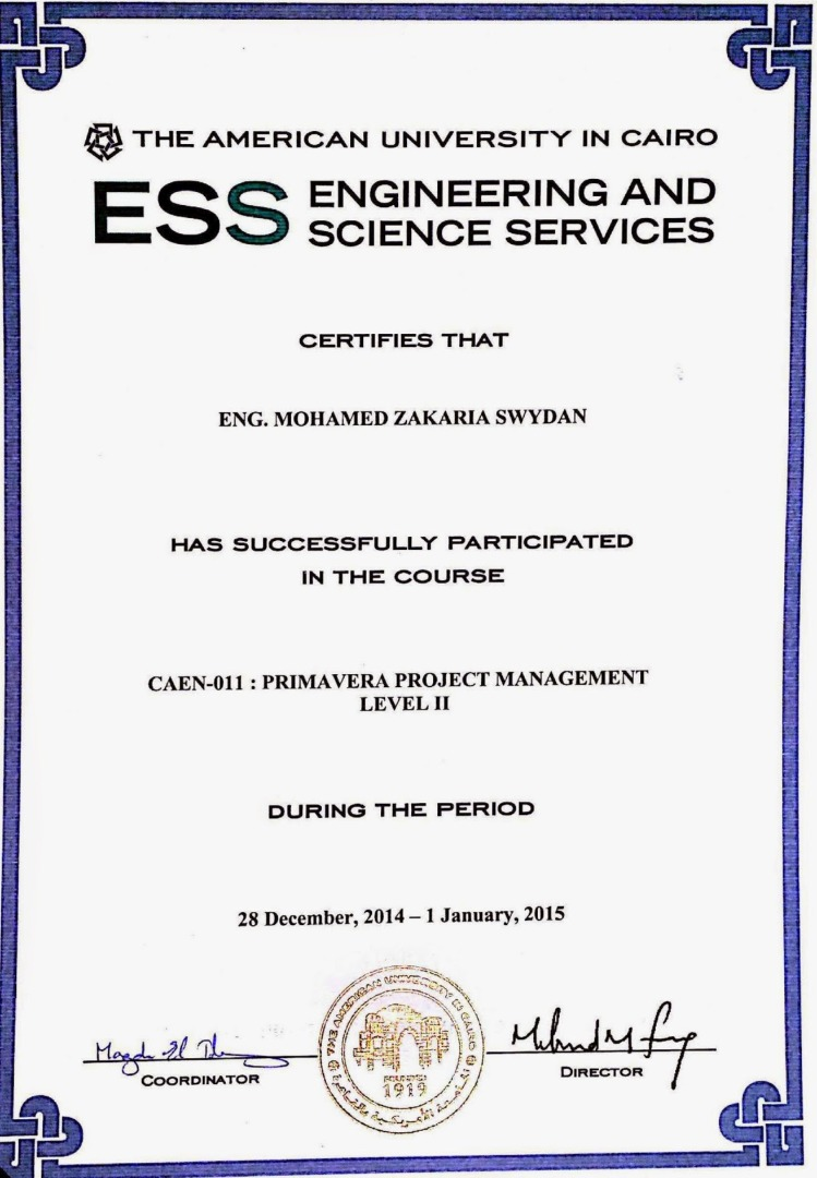 Mohamed swydan pmp prmg project management professional certificates pmp prmg procurement management primavera ii xflitez Image collections