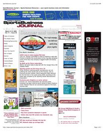 Sportsbusiness journal cvr cv