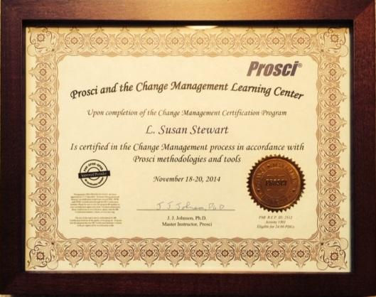 Prosci certificate cv