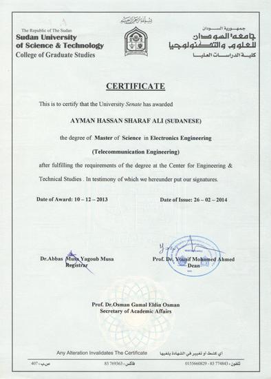 Master ceritficate 001 cv