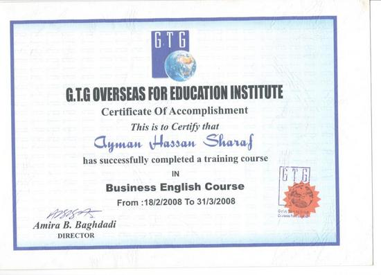 Bussiness english course 001 cv