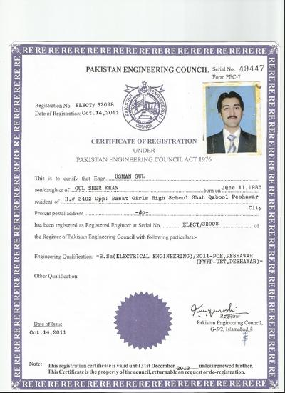 engr  usman gul   electrical