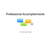 Professional accomplishments copy cv