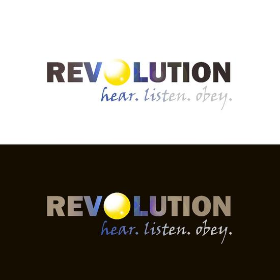 Revolution logo blue cv