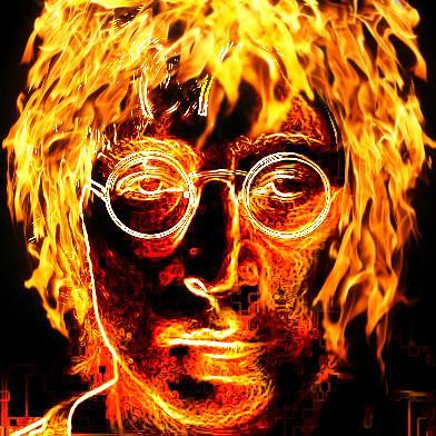 John lennon on fire by lmef2009 cv