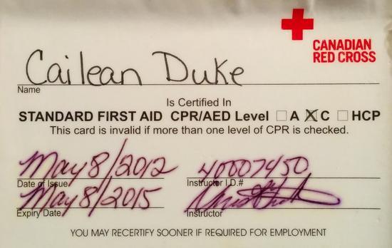 Edited first aid cv