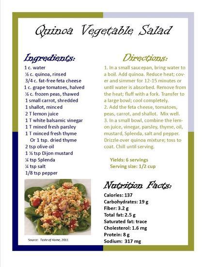 Quinoa recipe cv