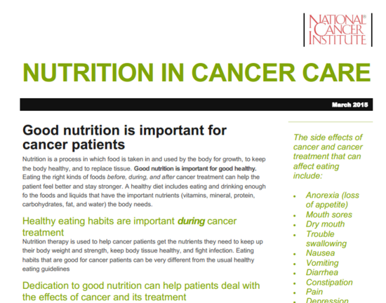 Nutrition in cancer thumb